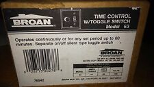 BROAN 63 NIB OLD VINTAGE TIME CONTROL W/ SWITCH AND PLATE SEE PICS #A54