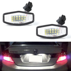 2x LED License Plate Lights Lamp For Honda Odyssey Accord Civic Acura TSX TL ILX