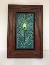 Motawi Peacock Feather Art Tile Family Woodworks Oak Park Arts & Crafts Frame