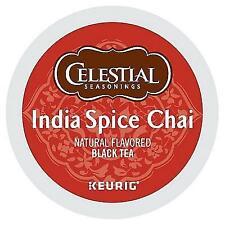 Celestial Seasonings India Spice Chai Black tea  keurig k-cups 96 count