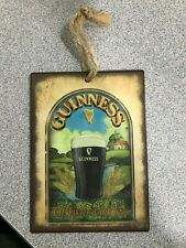 Guinness The Taste of Ireland Mini Metal Sign Hanging Decoration 80 x 110mm