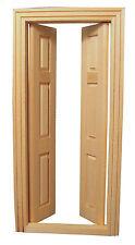 1:12 scala interno doppia porta in legno & Frame bambole Casa In Miniatura 641