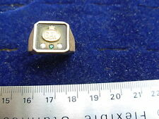 10k  gold ring  set with a sapphire  and 2 smal diamonds ,size 10.5 not scrap