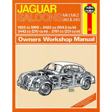 Jaguar MK1 MK2 Haynes Manual 1955-69  240 340 2.4 3.4 3.8 Petrol Workshop