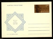 Poland 1969 Mahatma Gandhi of India Cent. Postal Stationary Post Card Mint #8003