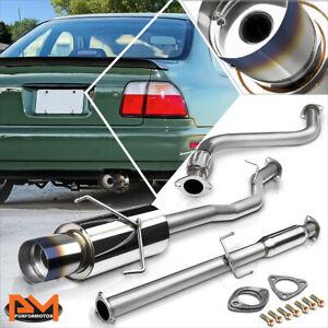 "For 94-97 Honda Accord DX/EX/LX/SE 4.5"" Burnt Tip Muffler Racing Catback Exhaust"