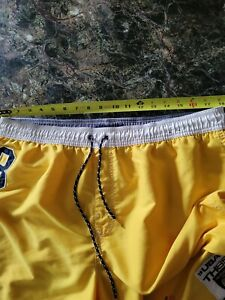 Tommy Hilfiger Swim Trunks XL Bright  Yellow Mens Spellout Board Shorts Bathing