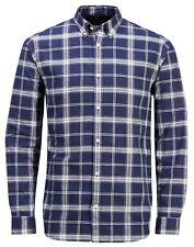 Jack & Jones Long Sleeve Shirt Mens Slim Fit Plain Casual Smart Gavin Shirts M Style 2 - Blue (check)