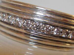 $2450 DAVID YURMAN MENS STERLING SILVER ROYAL CORD PAVE DIAMOND RING