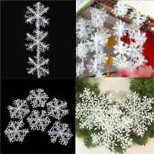 30PCS Lots White Christmas Snowflake Charms For Festival Home Ornaments Decor FT