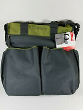 Skip Hop Duo Signature Lime Diaper Bag, Gray with Green, New with Tags