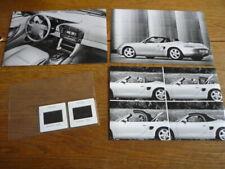 PORSCHE BOXSTER ORIGINAL PRESS PHOTOS X 3 AND COLOUR SLIDES X 2 1996