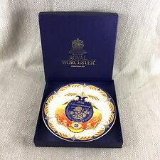 Royal Worcester Plate Queen Elizabeth II Boxed Collectors Cabinet China Jubilee