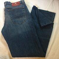 Women's Lucky Brand Josie Mid Rise Flare Reg Length Blue Denim Jeans Size 10/30