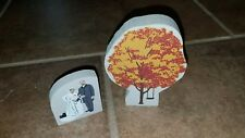THE CAT'S MEOW VILLAGE ACCESSORIES tree with swing & wedding couple LOT