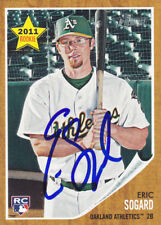 ERIC SOGARD OAKLAND A'S SIGNED BASEBALL CARD ASU SUN DEVILS MILWAUKEE BREWERS