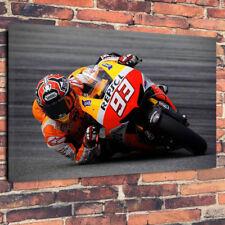 "Honda Motorbike Moto GP Printed Box Canvas Picture A1.30""x20""30mm Deep Wall Art"