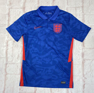England NIKE Football Shirt Polo Blue Mens Small