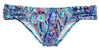 NWT Victorias Secret The Knock Out Ruched Side Bikini Bottom Paisley Foil XS