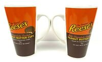 Galerie Reese's Peanut Butter Cups Ceramic Coffee Mug 10 OZ Set Of 2 EUC