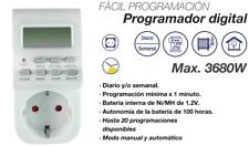 Reloj programador diario/semanal digital (enchufe Schuko)