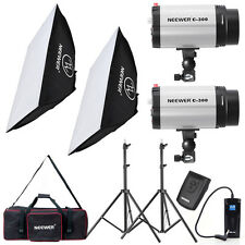 Neewer Mini 300W 300WS Studio Flash+Trigger&Receiver+Softbox+Light Stand KIT
