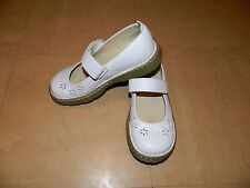 Girls Dr Martens White Leather 11778 Velcro Strap Shoes - UK 2 EU 34