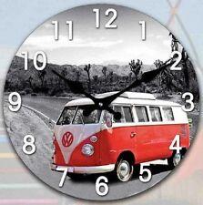 Blue Combi Van Clock and 3 Combis Sign Gift Set