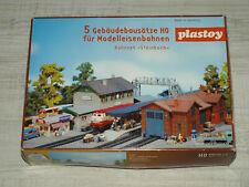 Plastoy Bahnset Steinbach-5 Gebäudebausätze H0- 1:87 mit OVP-unverbaut-unbenutzt
