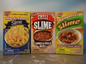 SLIME FACTORY MAC & CHEESE / CHILI / SPAGHETTI SLIME PLAY FOOD LOT *NEW*