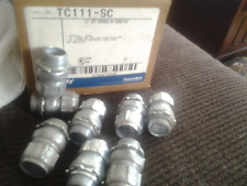 "8 lot NEW Thomas & Betts TC111-sc 1/2"" Compression Connector For EMT Conduit"