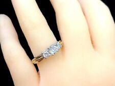 CERTIFIED 0.90 Carat 3 STONE Round Natural Diamond Engagement Ring 14k Gold