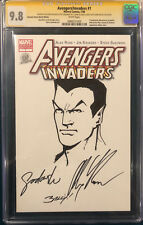 ALEX ROSS signed ORIGINAL MARK BAGLEY Sketch Art CGC 9.8 Avengers NAMOR not CBCS Comic Art