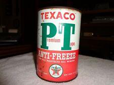 Rare Texaco PT Antifreeze 1Qt Tin Can Dtd 2-56 With Guarantee Radiator Tag