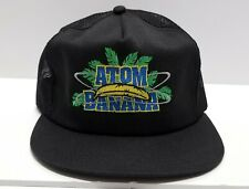 NOS Vintage 1980s Atom Banana K-Products Trucker Made in USA Snapback Hat Cap
