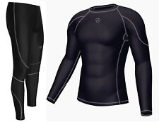 Men's Compression Armour Base layer Top & legging running Skin Fit Tight
