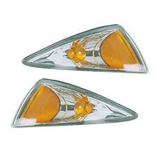 00-02 Chevy Cavalier Driver & Passenger Side Park Signal Side Marker Lights Pair