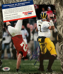 Chad Henne Auto Autograph Signed 8X10 PSA COA Michigan KC Chiefs QB Rose Bowl