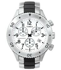 TIMEX T-Series T2M707 Mens Chronograph Chrono Watch w/Date *NEW* BAD BATTERY