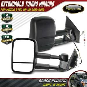 TOP Black Extendable Towing Mirrors for Mazda BT-50 UP UR 2012-2019