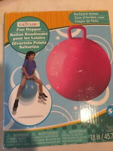 New Blue Fun Hopper Ball! Bouncing Fun-Great Exercise! Delivered Uninflated.