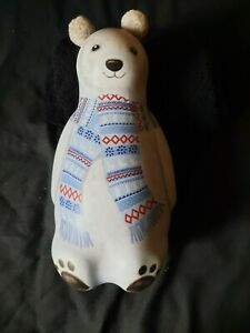 Silver Crane Polar Bear Shaped Tin