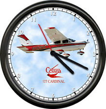 Cessna Cardinal 177 Flying Aviation Decor Plane Airplane Pilot Sign Wall Clock