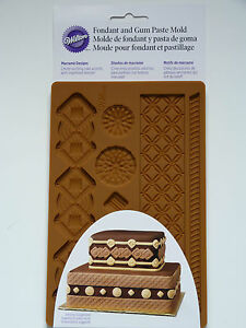 Wilton Macrame Fondant & Gum Paste Mould - Brand NEW