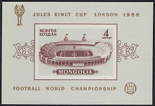 MONGOLIE BLOC N°11a** Bf ND Football Londres, TB 1966 MONGOLIA Imperf. SHEET MNH