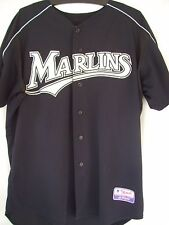 FLORIDA MARLINS PLAYERS MLB FRONT BUTTON DOWN MAJESTIC JERSEY WOOD ADULT XL