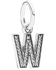 "NEW! AUTHENTIC PANDORA Letter ""W"" with Clear CZ Pendant - 9080-8"