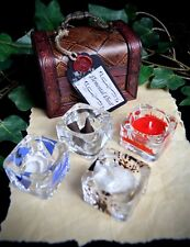 ELEMENT OFFERING BOWLS & CHEST Wicca Altar Earth Air Fire Water Yule Gift