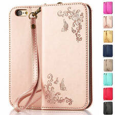 Luxury Magnetic Flip Cover Stand Wallet Leather Case For iPhone & Samsung