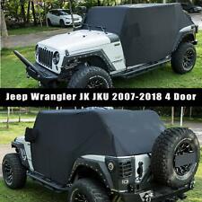 for Jeep JKU 4 Door Orange Netting 3pc Kit Spiderweb Sides